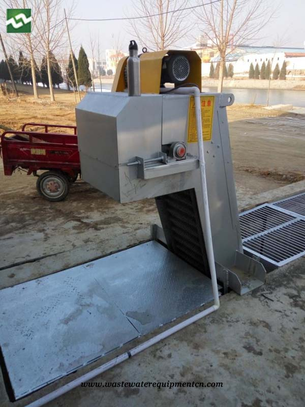 Grille decontamination machine for Wastewater Plant in Shandong