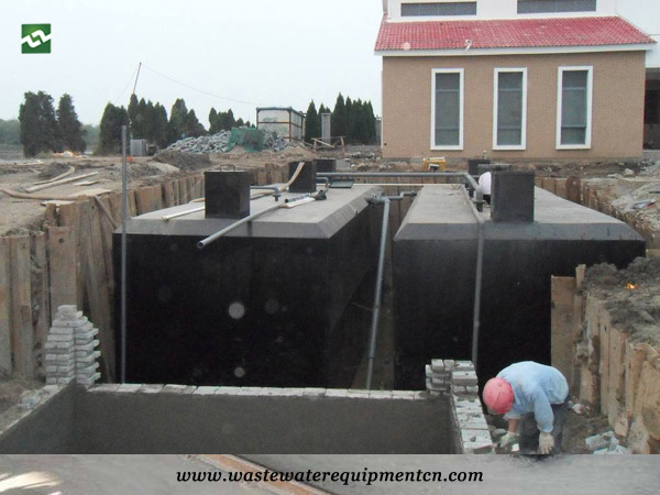 Application of Buried Integrated Sewage Treatment Equipment in A Farmhouse Hotel in Linyi