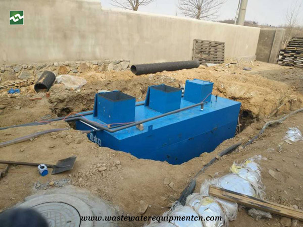 Application of Buried Sewage Treatment Equipment for A Pig Farm in Taian